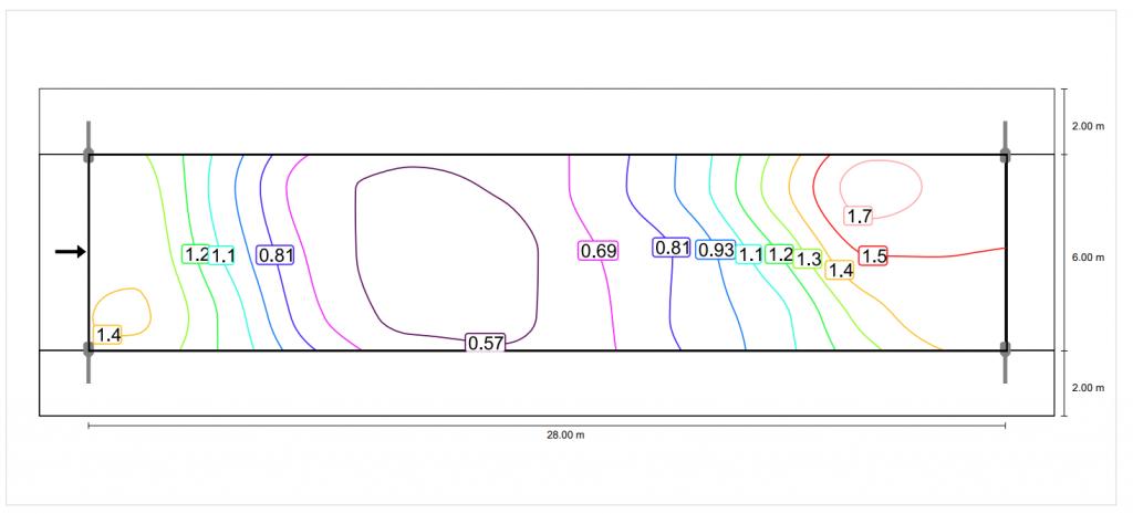 150W HPS Street light isoline analysis